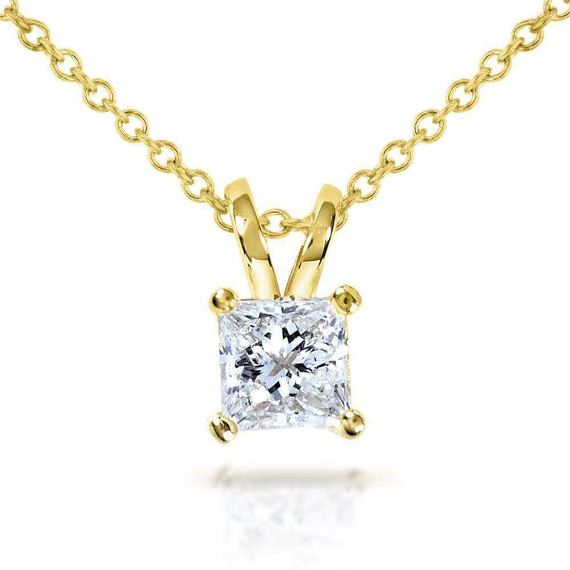 Kobelli Diamond Solitaire Pendant 1/2 carat in 14K Gold (G-H, VS1-VS2) 7223-50DM_YG