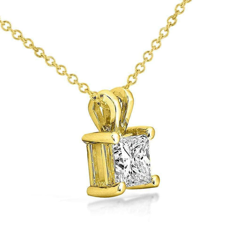 Kobelli Diamond Solitaire Pendant 1/2 carat in 14K Gold (G-H, VS1-VS2)