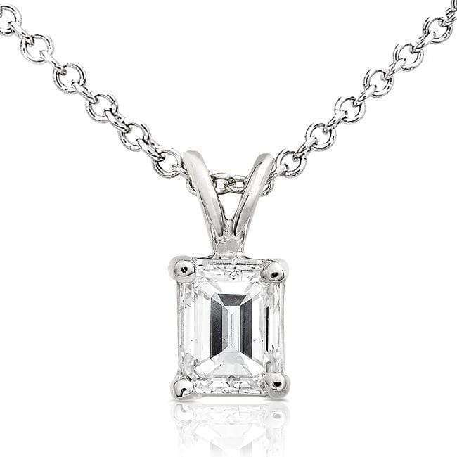 Kobelli Diamond Solitaire Pendant 3/8 carat in 14K White Gold 8697DM