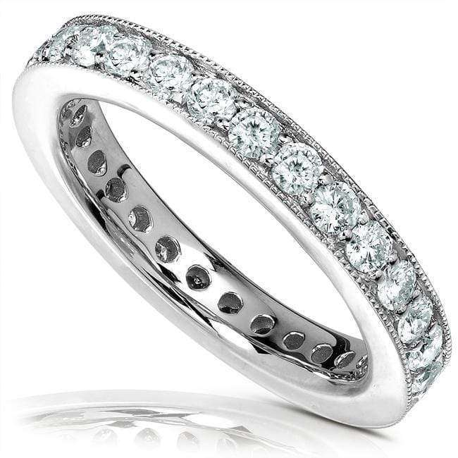 Discounts Diamond Eternity Wedding Band 1 carat (ctw) in 14K White Gold - 10.5