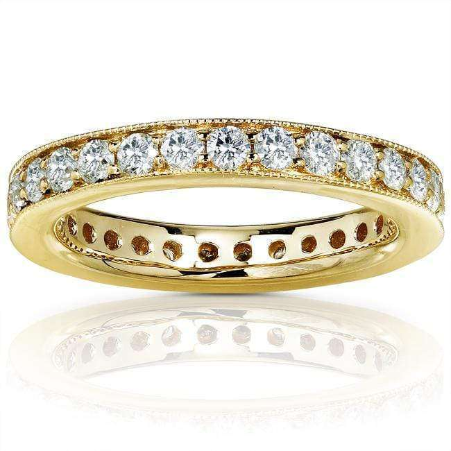 Kobelli Diamond Eternity Wedding Band 1 carat (ctw) in 14K Yellow Gold