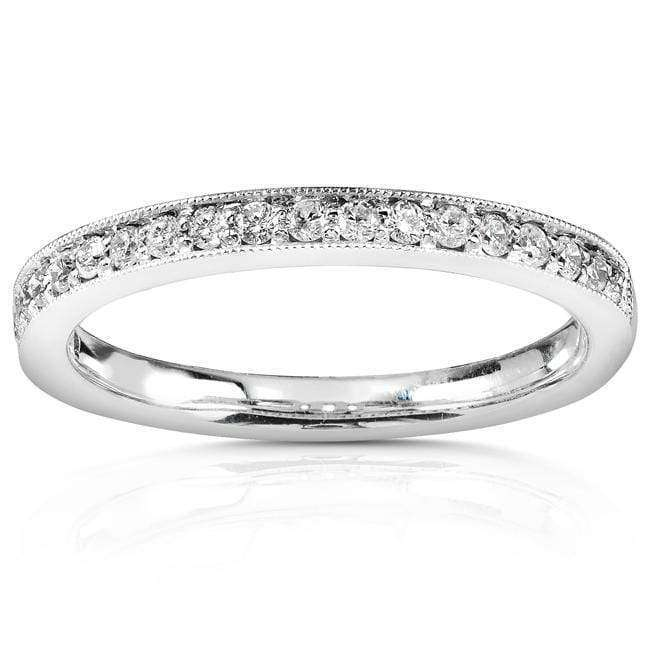 Kobelli Diamond Wedding Band 1/5 carat (ctw) in 14k White Gold