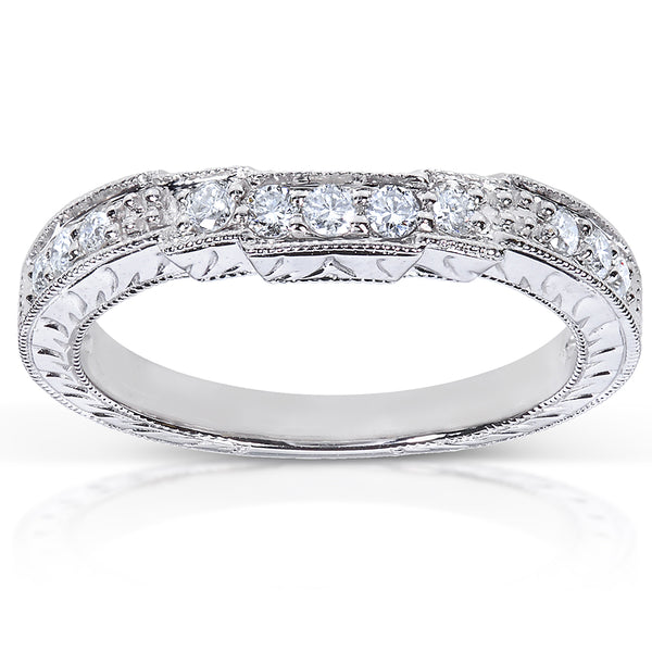 Round Diamond Wedding Band 1/4 Carat (ctw) in 14K White Gold