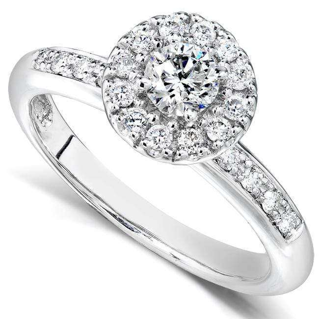 Compare Round Brilliant Diamond Engagement Ring 1/2 Carat (ctw) in 14K White Gold - 5.5