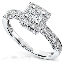 Kobelli Diamond Engagement Ring 1/2 carat (ctw) in 14k White Gold