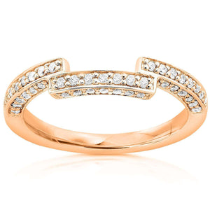 Diamond Wedding Band 1/4 carat (ctw) in 14K Gold