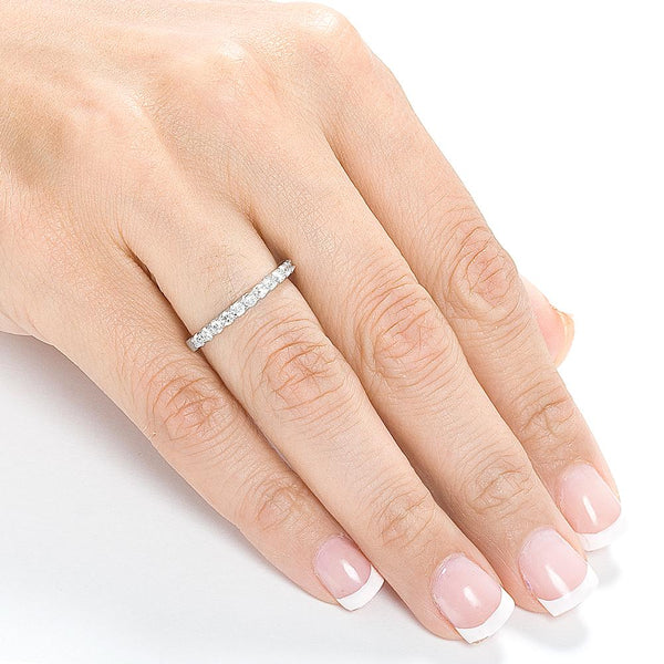 Kobelli 1/2ct Lab Diamond Semi-Eternity