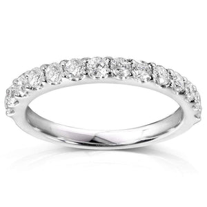 Kobelli Diamond Wedding Band 1/2 CTW in 18K White Gold