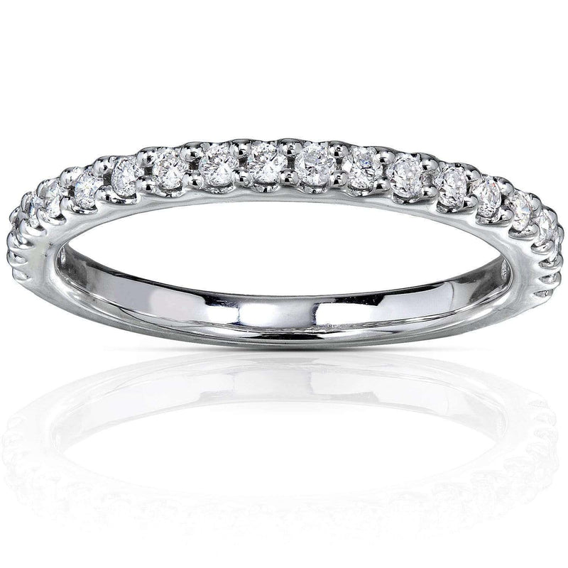 Kobelli Diamond Wedding Band 1/4 CTW in 18K White Gold