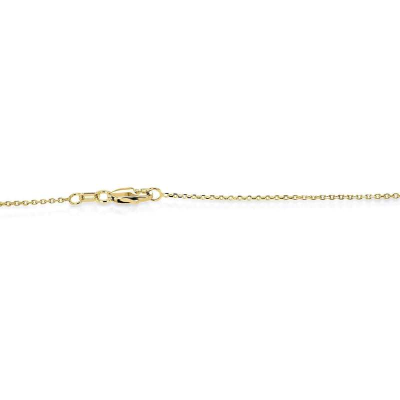 Kobelli Lab Grown Diamond Solitaire Bezel Gold Necklace