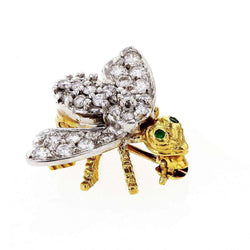 Kobelli [pre-owned] Hammerman Brothers Diamond Small Bee Brooch 3/4 Carats TGW 18k Two Tone Gold - American Fine Jewelry 71444X