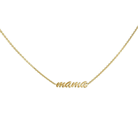 Kobelli Mama necklace in solid yellow gold
