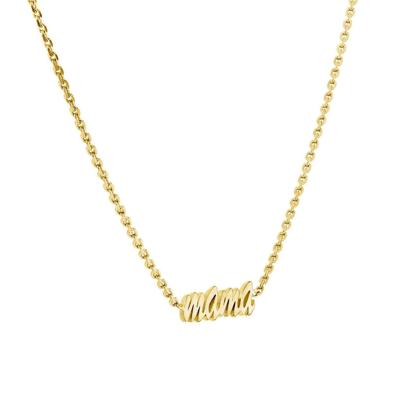 "Kobelli ""Mama"" Necklace Solid 14k Gold Choker"