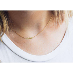 """Mama"" Necklace Solid 14k Gold Choker"