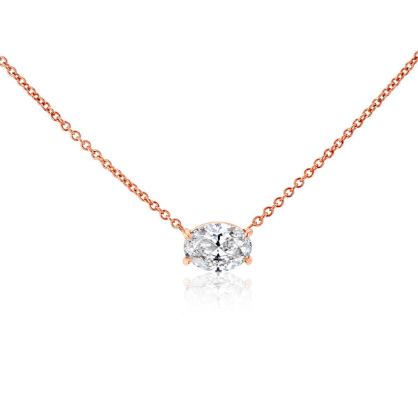 Kobelli East-West Oval Solitaire Necklace