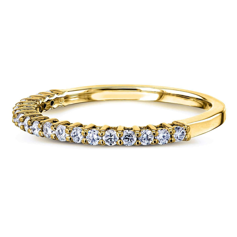 Kobelli One Quarter Carat Lab Grown Diamond Gold Band