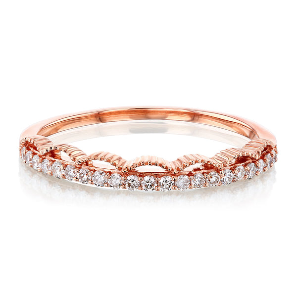 Kobelli Scalloped Diamond Band