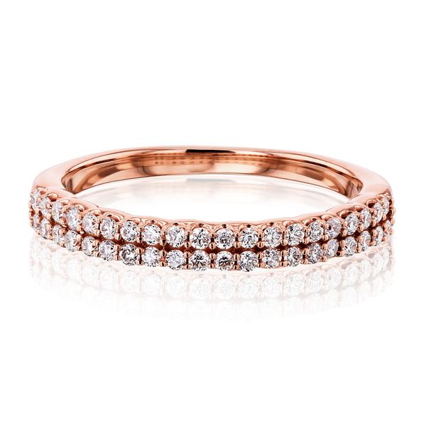 Kobelli Lab Grown Diamond Double Row Band