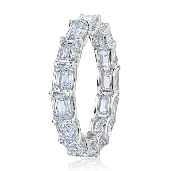 Kobelli East West Emerald Lab Grown Diamond Eternity Band