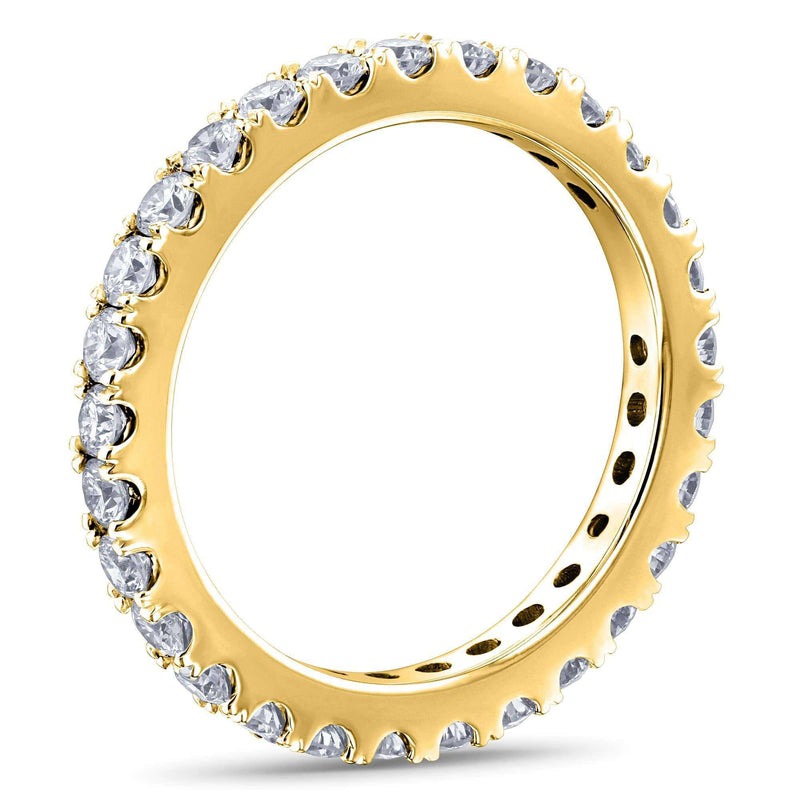 Kobelli 1ct Lab Grown Diamond Eternity Gold Band