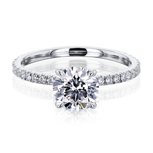 Kobelli Diamond Wrap Basket Engagement Ring