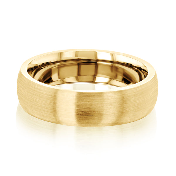 Kobelli Domed Satin matte Gold Ring