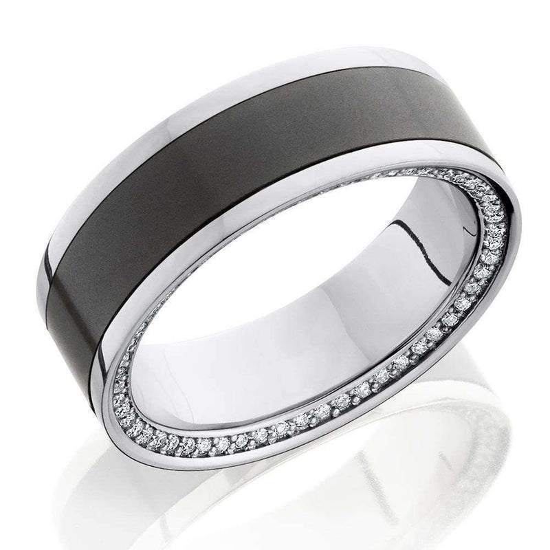 Kobelli Elysium Diamond Metal and Platinum Eternity Diamond Band 8mm