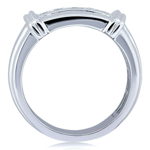 Channel Diamond Unisex Wedding Band 1/5 CTW in 10k White Gold
