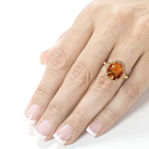 Kobelli Oval Gemstone Cocktail Rings