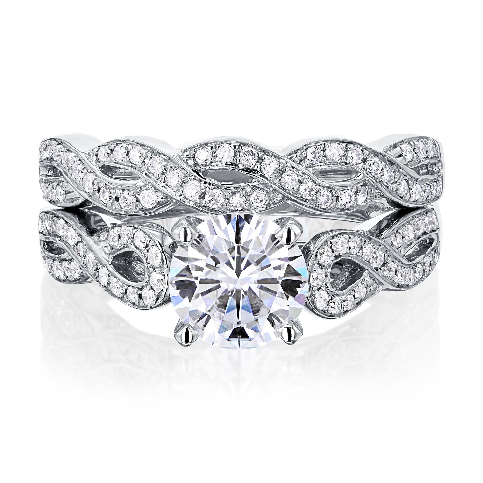 Promos 1ct Moissanite Snake Bridal Set - 10.0 Kobelli F-G