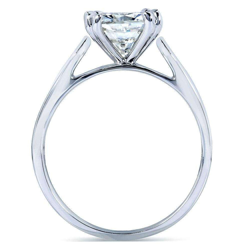 Kobelli Cushion-cut Moissanite Solitaire Engagement Ring 2 CTW 14k White Gold