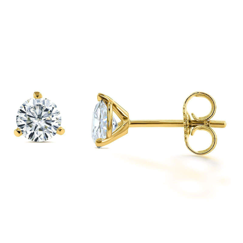 Kobelli Round Brilliant Moissanite (HI) 2/3ct TGW Stud Earrings in 14k Gold MZ61735R-33/Y