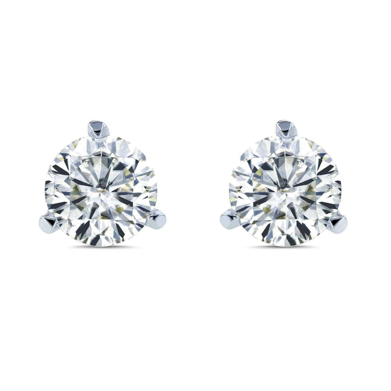 Kobelli Round Brilliant Moissanite (HI) 2/3ct TGW Stud Earrings in 14k Gold