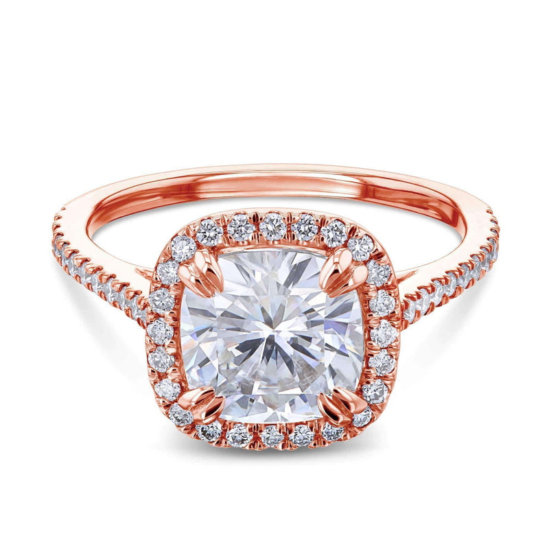 Kobelli 2ct Cushion Moissanite Halo Ring