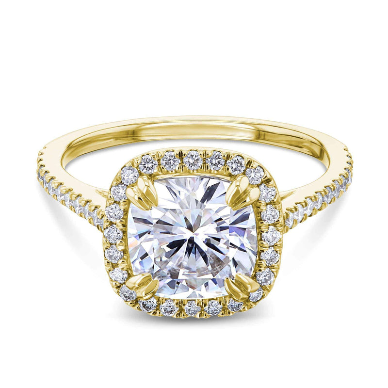 Kobelli 2ct Cushion Forever One Moissanite Halo Ring