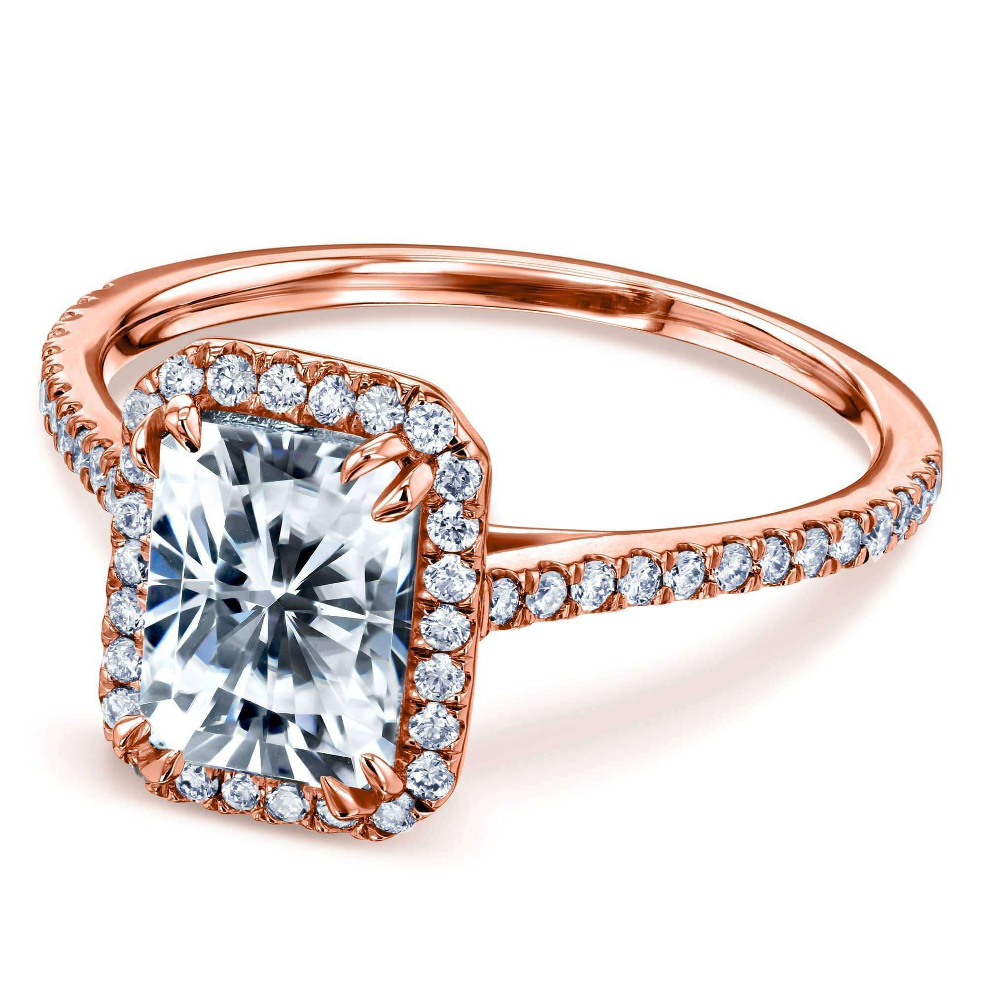Cheap 1.8ct Radiant Moissanite Ring - rose-gold 11.0 Kobelli H-I
