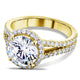 Kobelli Round Moissanite Engagement Ring with Halo Diamond 2 2/5 CTW 14k Yellow Gold