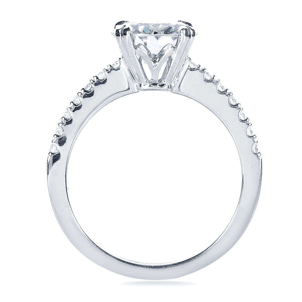 Kobelli Round-cut Moissanite & Diamond Engagement Ring  2 1/10 Carat (ctw) in 14k White Gold