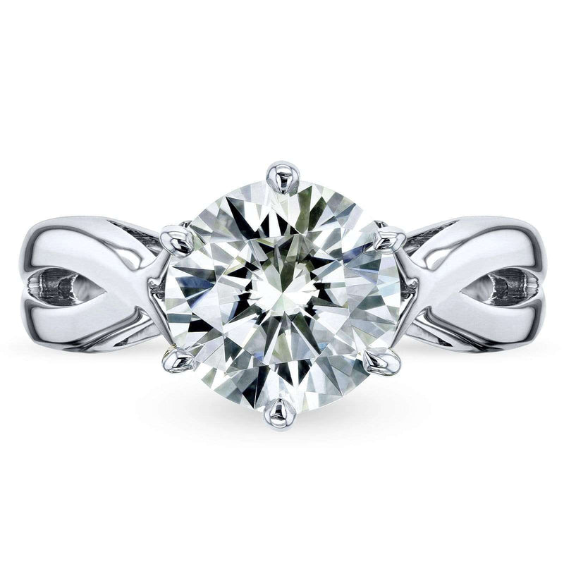 Kobelli Moissanite Solitaire Engagement Ring 1 3/5 CTW 14k White Gold