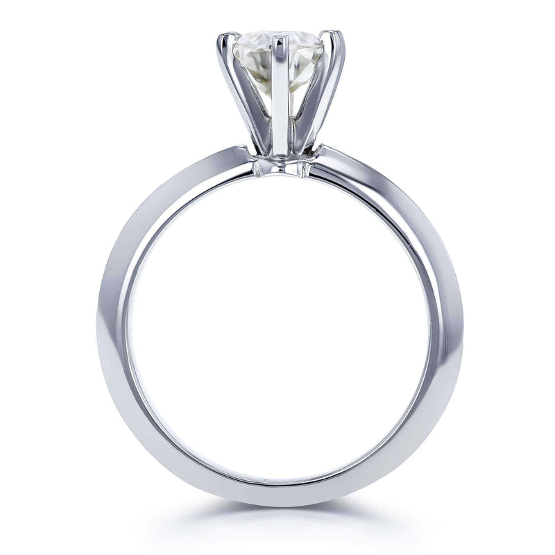Kobelli Oval Moissanite 6-prong Solitaire Engagement Ring 7/8 Carat in 14k White Gold