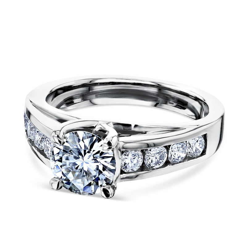 Kobelli Moissanite Engagement Ring in Channel Setting