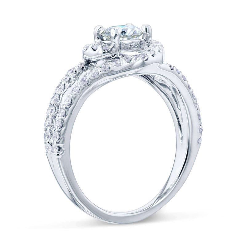 Kobelli Moissanite Twist Bypass 1 CTW Ring