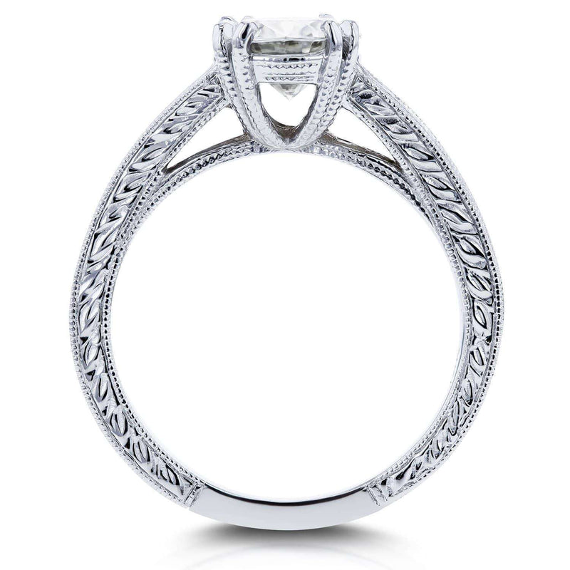 Kobelli Moissanite (HI) and Diamond Channel Bridal Set  2 1/2ct TW 14k White Gold