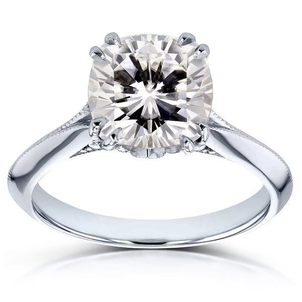 Kobelli Moissanite (HI) and Diamond Engagement Ring 2 7/8ct TCW in 14k White Gold