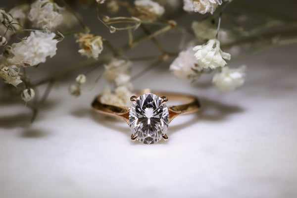 Kobelli 2ct Oval Moissanite Engagement Ring