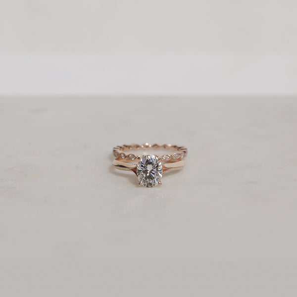 Kobelli Moissanite Wedding Ring Set