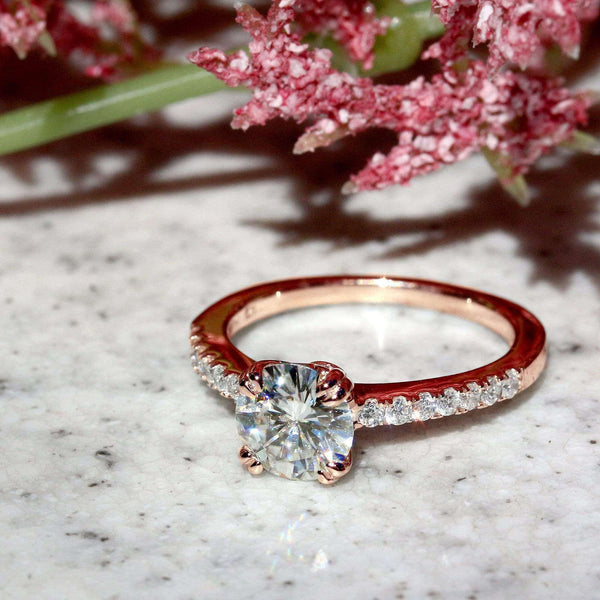 Kobelli Double-Prong 1ct Moissanite Tulip Head Ring
