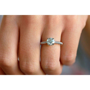 Forever One Round Moissanite Vintage Ring (1 1/3 CTW)