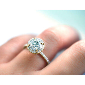 1 7/8ct Round Forever One Moissanite Floating Halo Ring