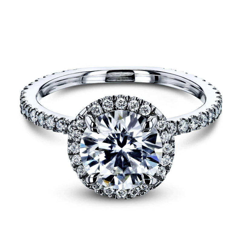 Kobelli 1 7/8ct Round Forever One Moissanite Floating Halo Ring